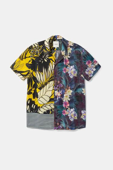 Camicia a mezza mela stampa Hawaii | Desigual