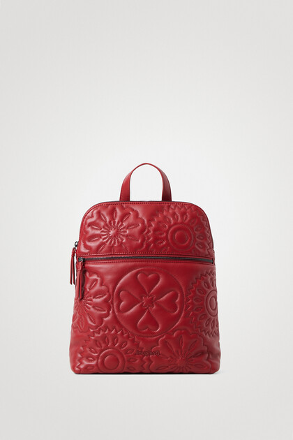 Padded backpack embroideries