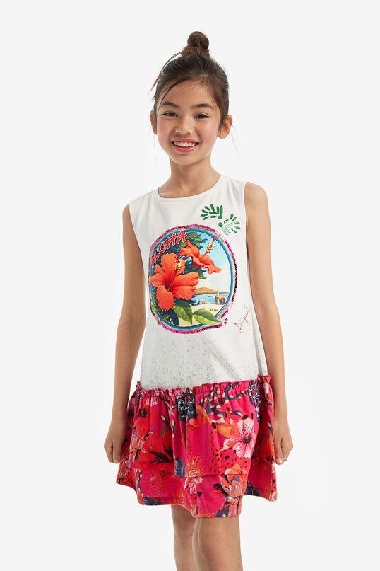 Sleeveless drop-waist dress | Desigual