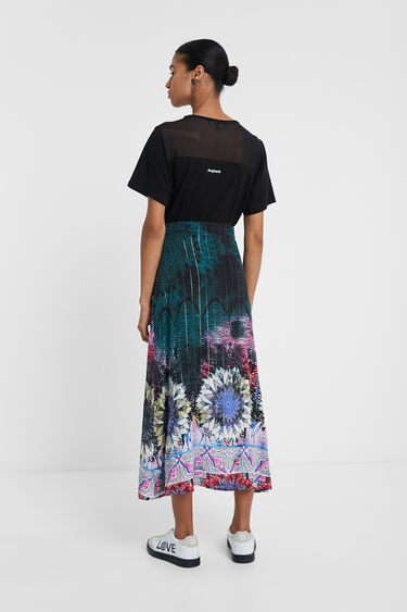 Long Lurex viscose skirt | Desigual
