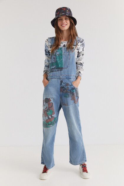 Mickey Mouse denim dungarees