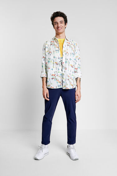 Surf print shirt | Desigual