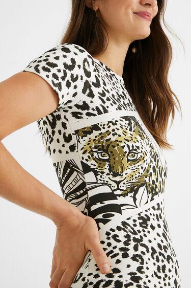 Short pinafore dress animal print | Desigual
