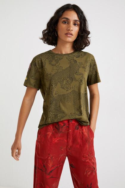 T-shirt met dierenprint 100% katoen