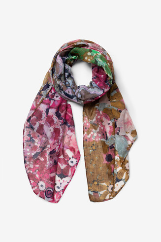 Recycled foulard and kaleidoscopic boho
