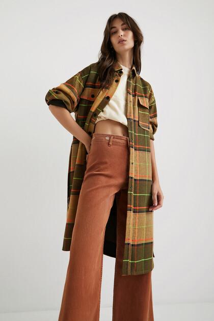 Long coat tartan