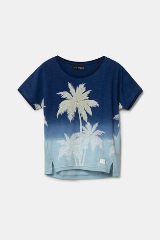 Koszulka z nadrukiem w palmy