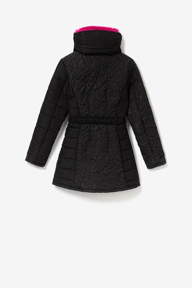 Down jacket detachable collar | Desigual
