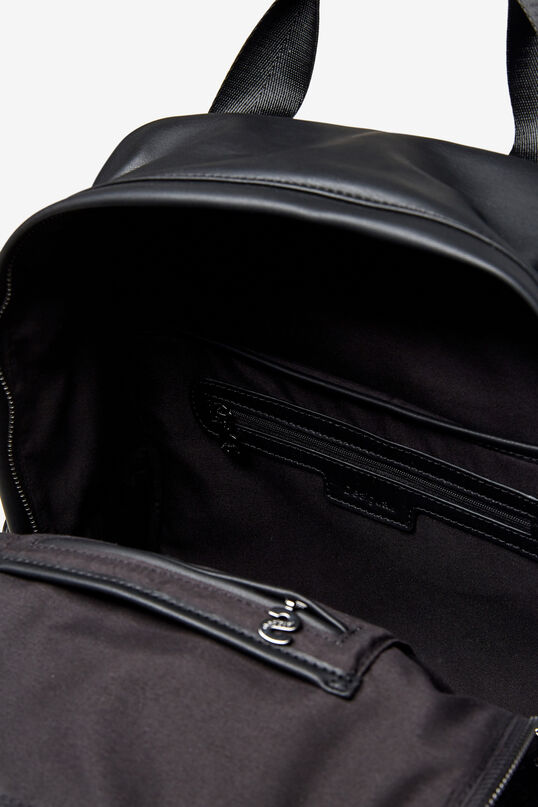 Synthetic leather and fleece backpack | Desigual