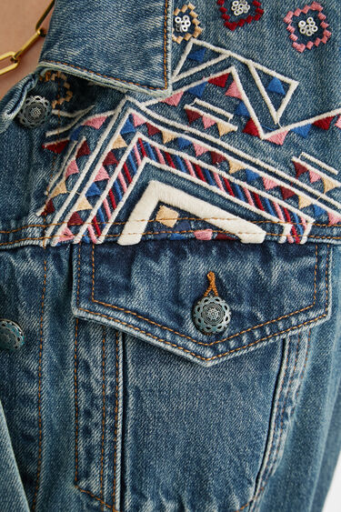 Straight jean jacket belt   Desigual