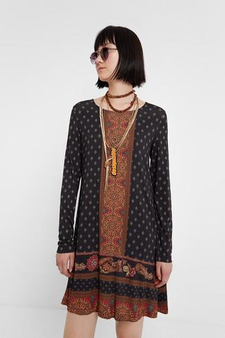 Drop waist boho dress