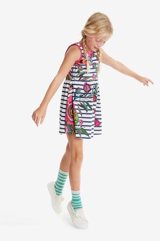 Flared Floral Dress Libreville
