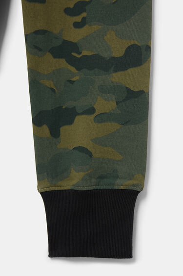 Calças jogger felpa camuflagem | Desigual