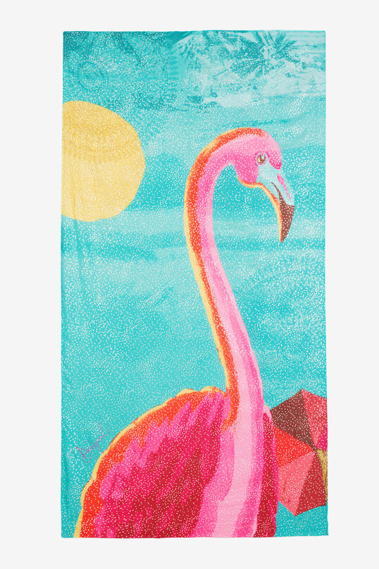 Flamingo Print Scarf Flamingo Road | Desigual
