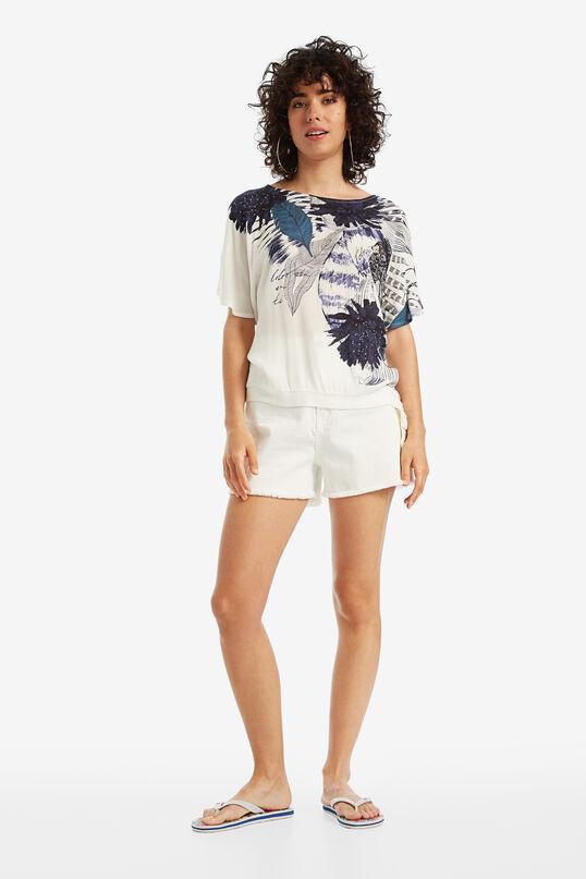 Weißes Shirt mit Blumen Wichitas | Desigual