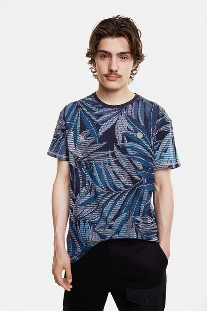 Hawaiian recycled jacquard T-shirt