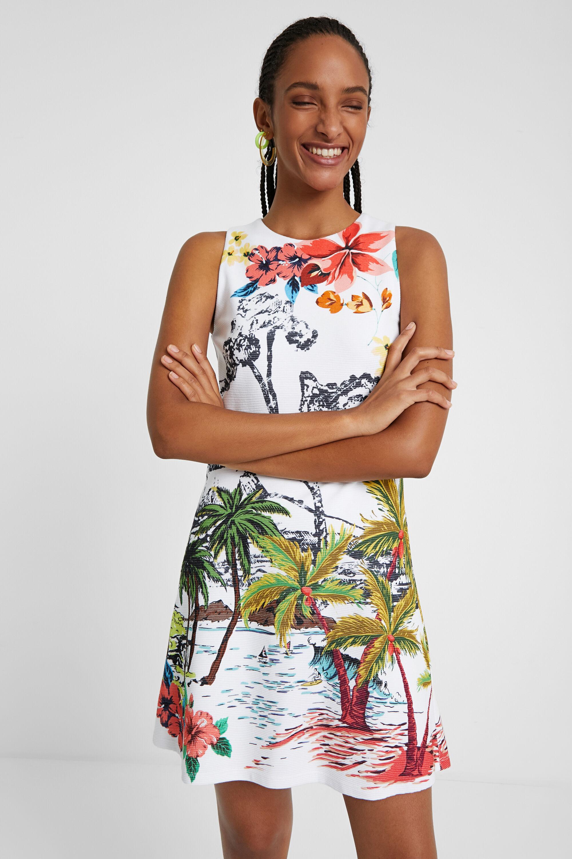 Vestito corto paesaggio hawaiano | Desigual