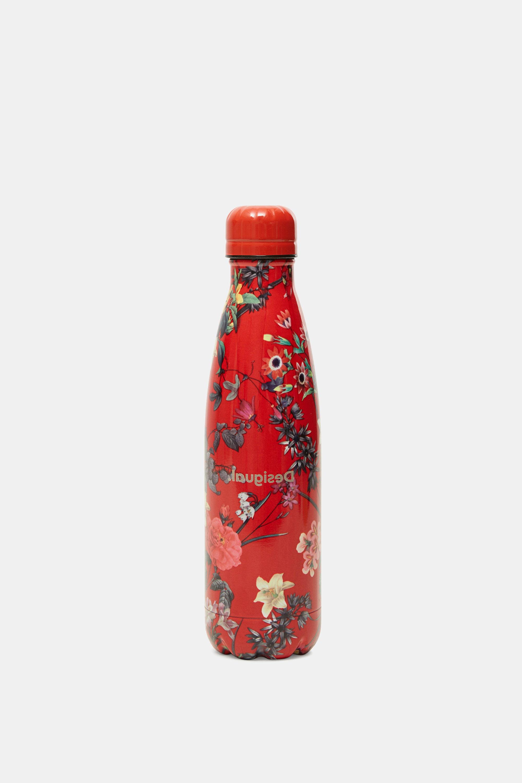 Bottiglia acciaio inossidabile fiori RED U