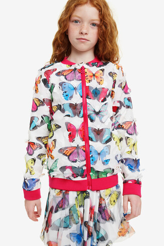 Veste bomber fille papillons Nacal