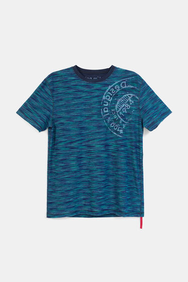 T-shirt jacquard imprimé | Desigual
