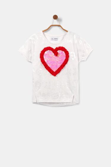 Heart sequins T-shirt | Desigual