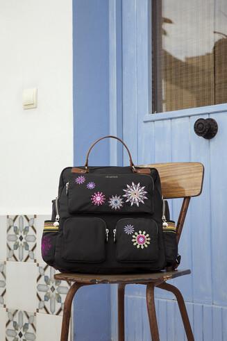 Retro backpack with mandalas