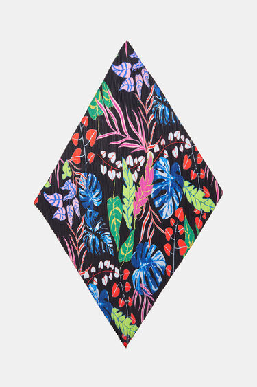 Vierkante sjaal met bladeren | Desigual