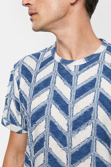 Geometric jacquard T-shirt | Desigual