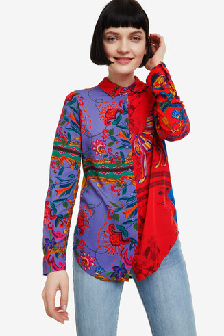Floral patchwork shirt Nayeli