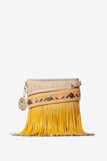 Fringe in degradé sling bag