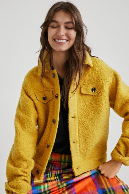 Wool trucker jacket
