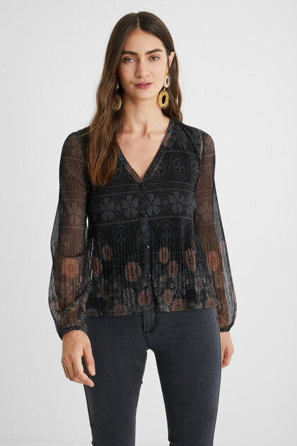 Pleated shirt mandalas