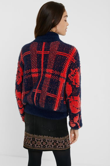 Knit high neck jacket | Desigual
