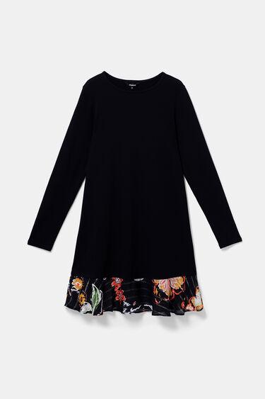 Vestido corto con bajo floral | Desigual