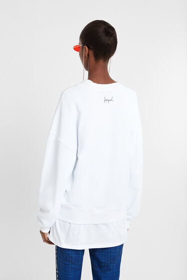 Sweat-shirt paillettes effet stylo   Desigual