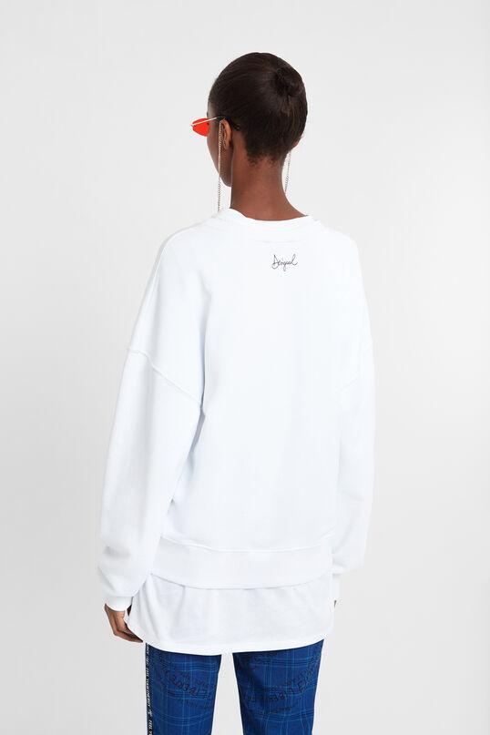 Sweat-shirt paillettes effet stylo | Desigual