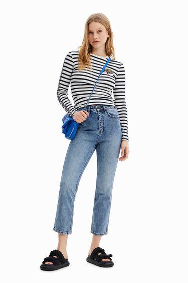 Straight ankle grazer jeans | Desigual