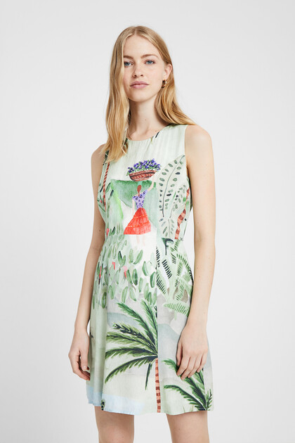 Robe paysage tropical