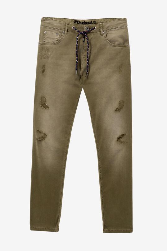 Khaki jean pattern jogger | Desigual