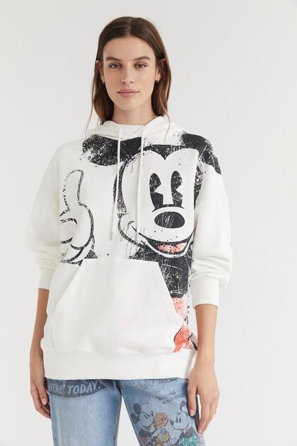 Sweat-shirt capuche coton imprimé
