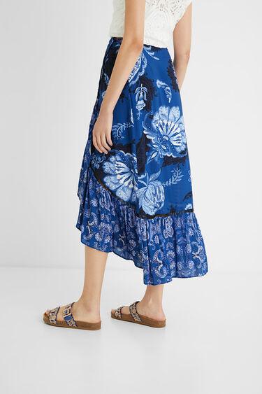 Long skirt flounces paisley | Desigual