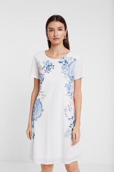 T-shirt dress side print | Desigual