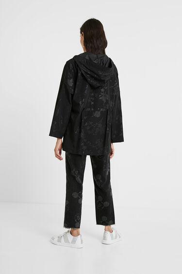 Waterproof floral parka with hood | Desigual