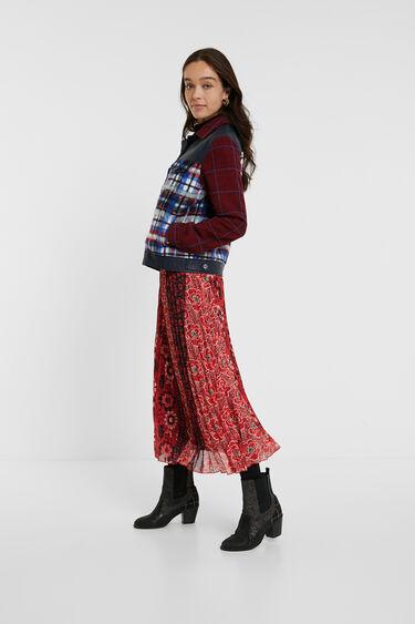 Tartan fur jacket | Desigual
