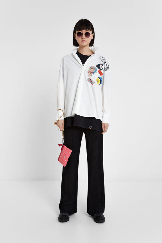 Arty patches blouse | Desigual