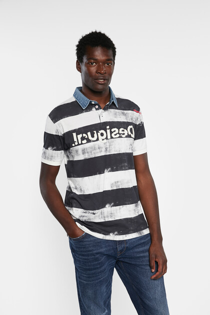 Striped polo shirt 100% cotton
