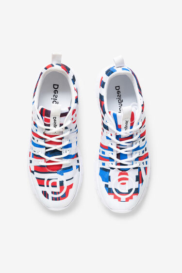 Running sneakers flags and flowers | Desigual