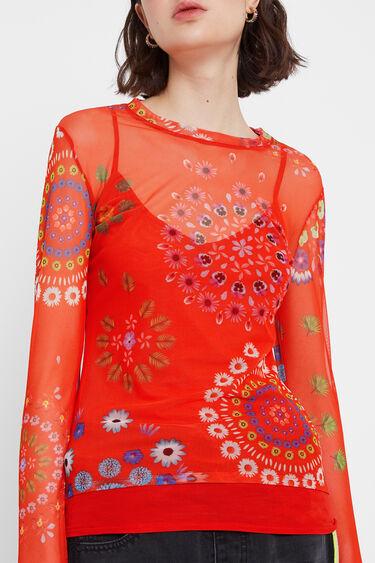 Semi-sheer mandala T-shirt | Desigual