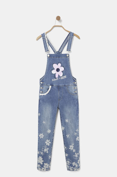 Long denim overalls lace | Desigual