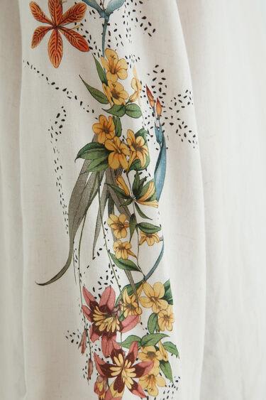 Leinen-Bluse mit Häkeldetail am Rücken | Desigual